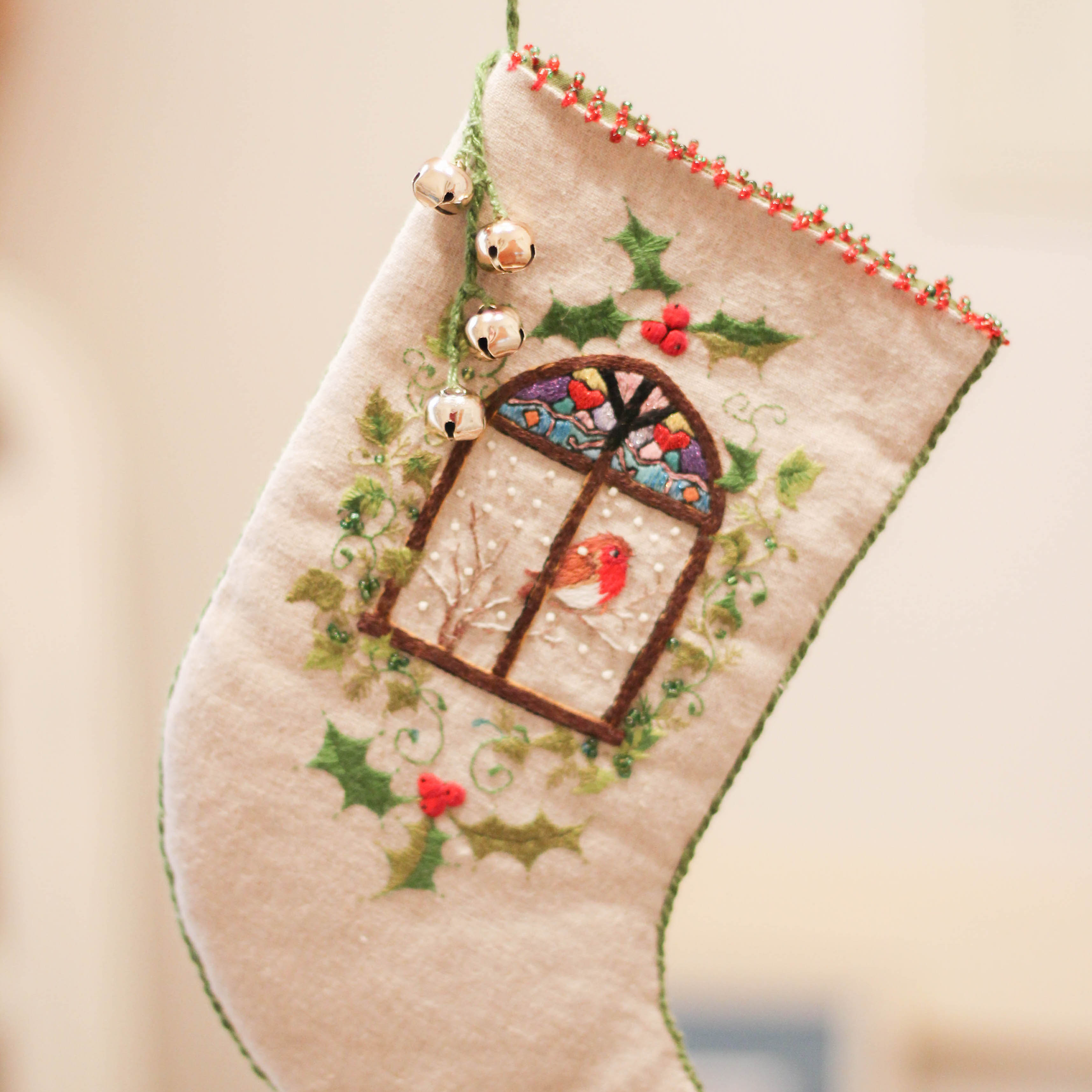 Products page 3 the bobbin tree by jenny mcwhinney stained glass window christmas stocking kit solutioingenieria Images